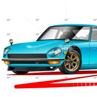 Datsun 240z vector illustration