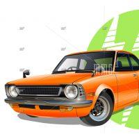Toyota Levin mango vector illustration