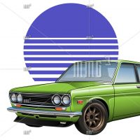 Datsun 510 vector illustration