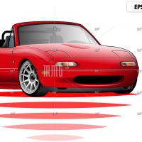 Mazda Miata mx5 vector illustration