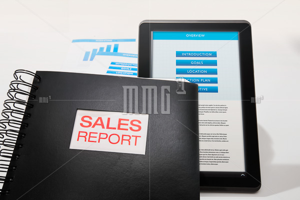 Sales report presentation in print and mobile device