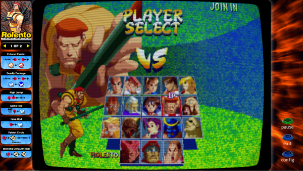 This is how the my instruction cards look when Street Fighter Alpha 2 is opened using Hyperlaunch.