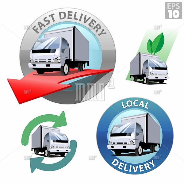 Truck for local delivery, fast delivery, recycle and eco friendl
